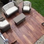 Rustic Concrete Wood Backyard Patio