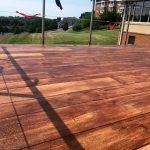 Rustic Concrete Wood Floor