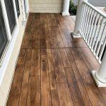 Rustic Concrete Wood Porch Concrete Floor