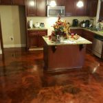 Metallic Marble Concrete Kitchen Flooring